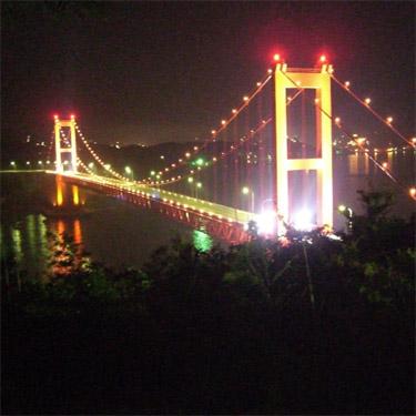 長崎県平戸市のシンボル「平戸大橋」のライトアップ事業